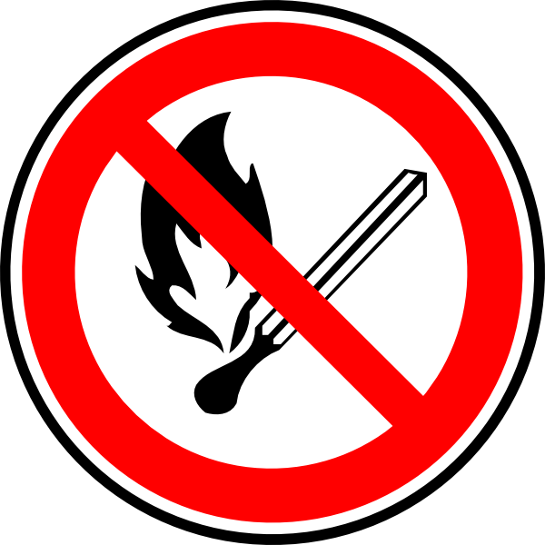 free vector No Fire Or Flames Allowed clip art