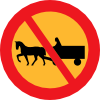 free vector No Horse And Carts Sign clip art
