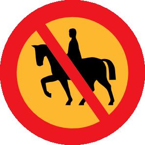 free vector No Horse Riding Sign clip art