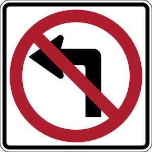 free vector No Left Turn Sign clip art