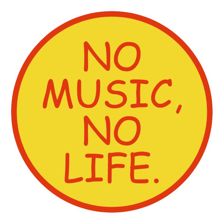 free vector No music no life