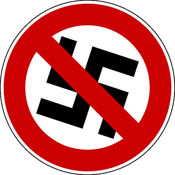 free vector No Nazis clip art