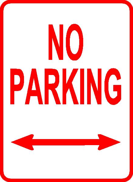 No Parking Sign clip art Free Vector / 4Vector