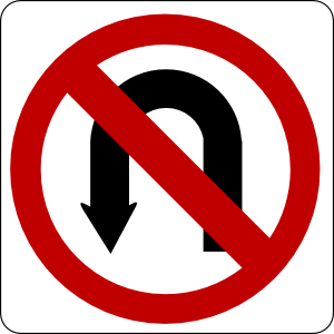 free vector No U Turn Sign clip art