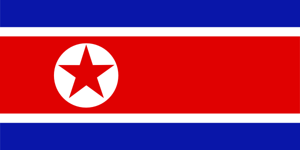 free vector North Korea National Flag clip art