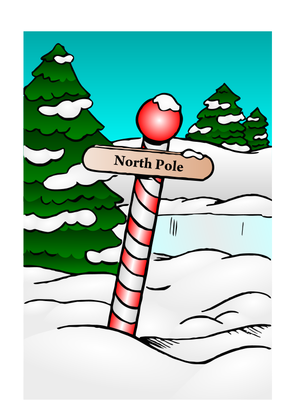 free vector North Pole Sign