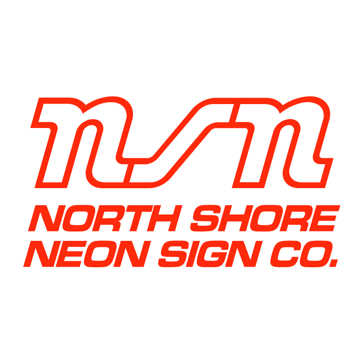 free vector North shore neon sign co