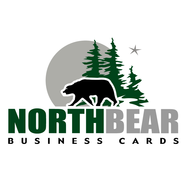 free vector Northbear business cards