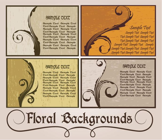 free vector Nostalgia card-style pattern