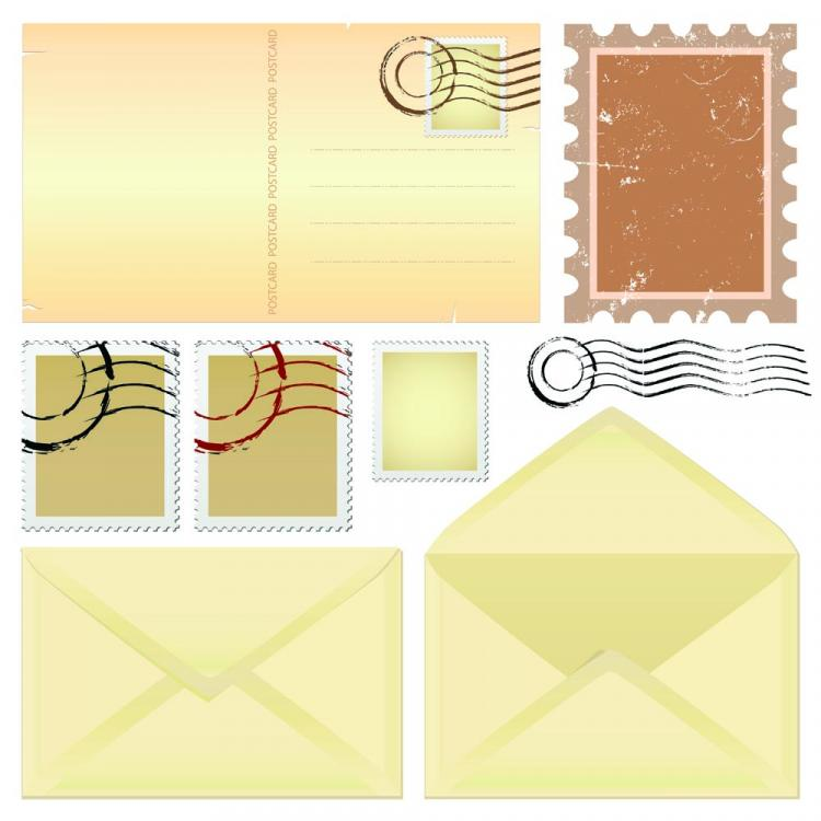 free vector Nostalgia envelopes and paper 01 vector