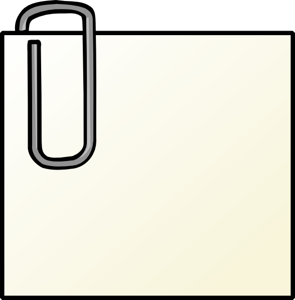free vector Note With Paperclip clip art