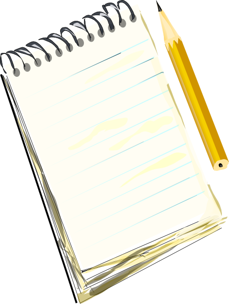 free vector Notepad Pencil clip art