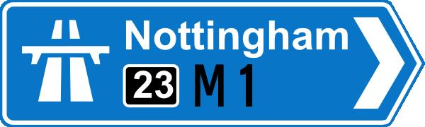 free vector Nottingham Road Signs clip art