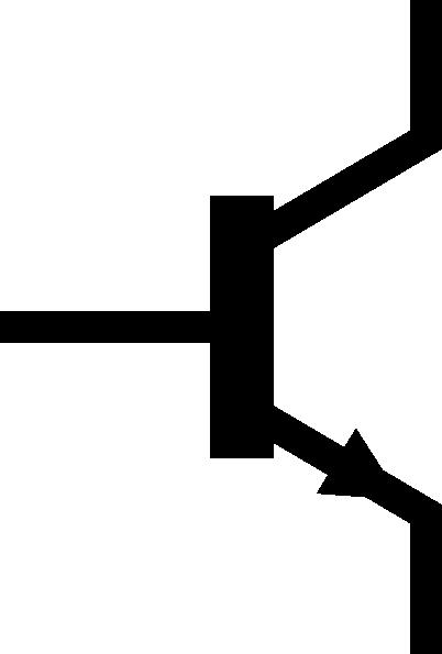 free vector Npn Transistor Symbol Alternate clip art