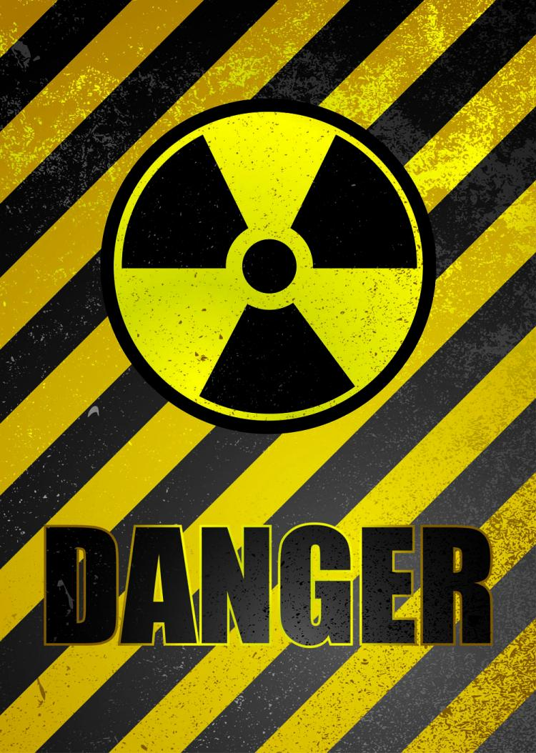 free vector Nuclear warning signs 01 vector