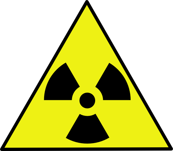 free vector Nuclear Zone Warning Sign clip art