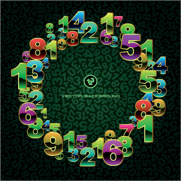 free vector Number of graphics vector