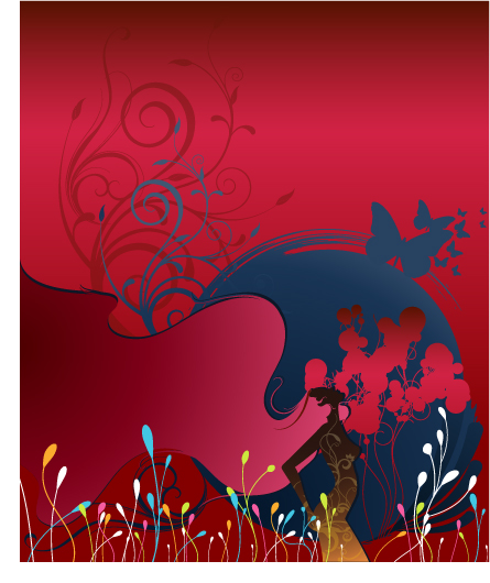 free vector Number of women with the trend of the pattern vector material