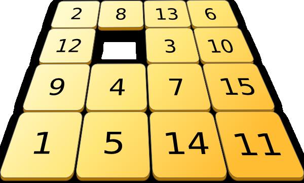 free vector Number Sorting Game clip art