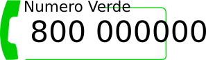 free vector Numero Verde clip art