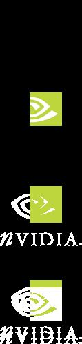 free vector NVidia logos