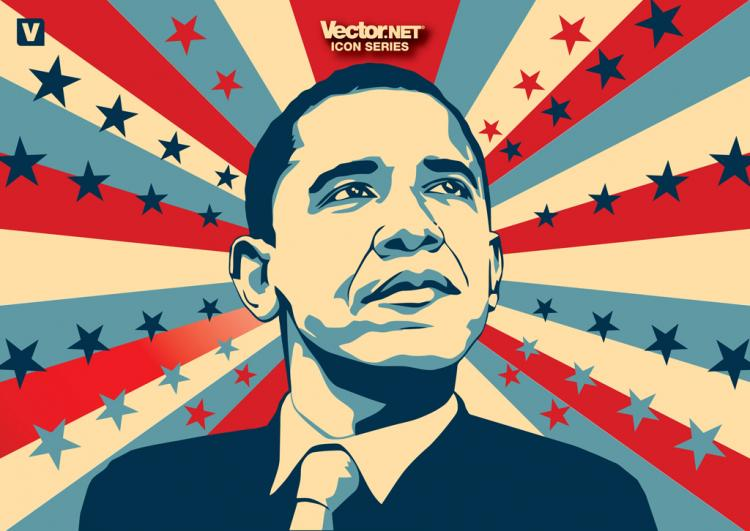 free vector Obama