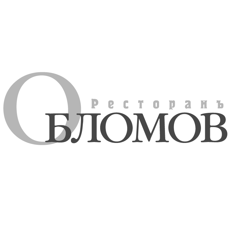 free vector Oblomov restaurant
