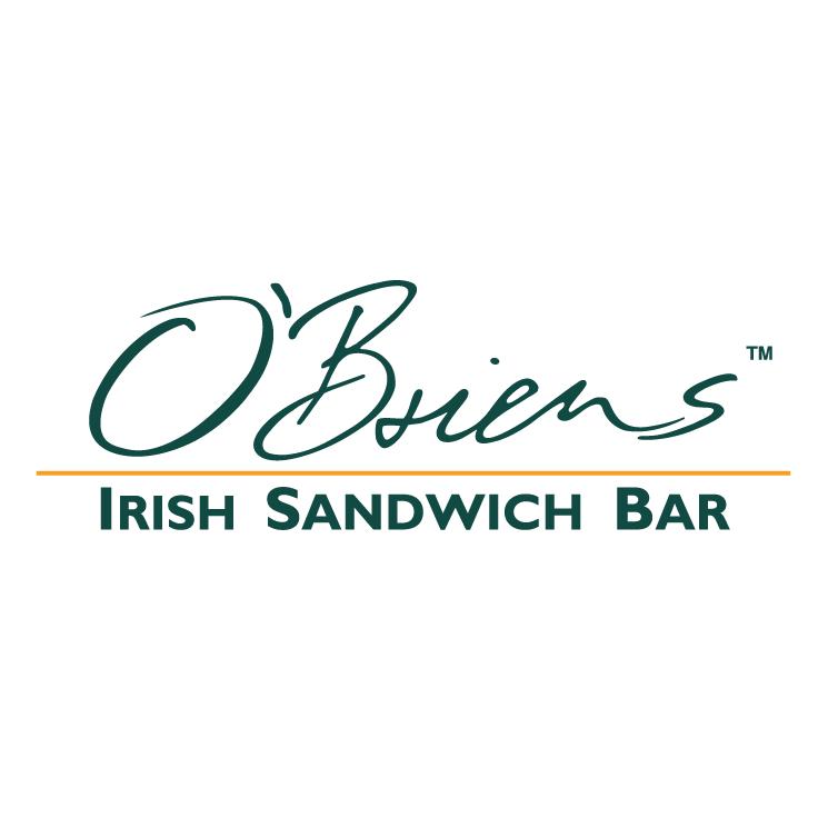 free vector Obriens irish sandwich bar