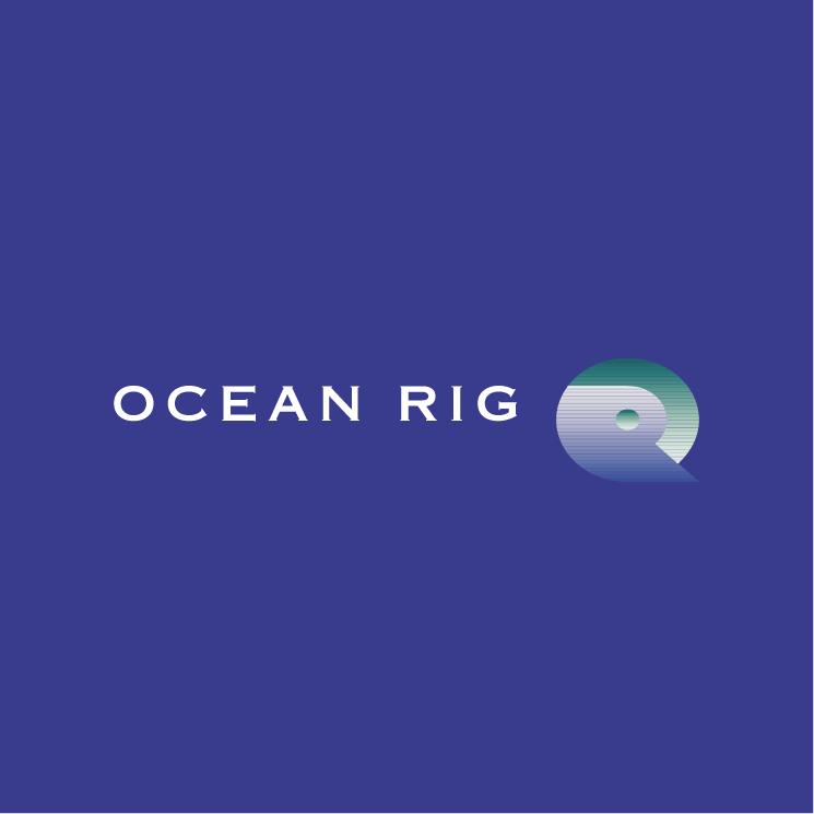 free vector Ocean rig