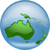 free vector Oceania Globe clip art