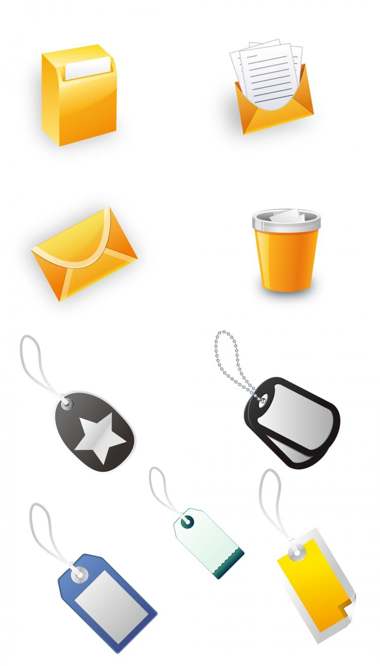 free vector Office icon and label vector
