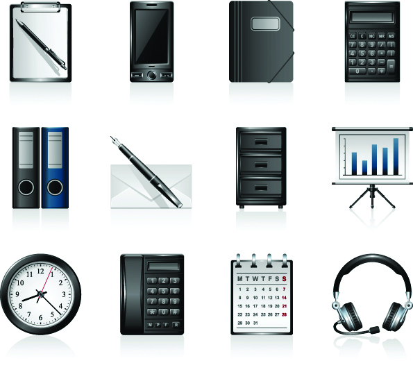 free vector Office product icons vector