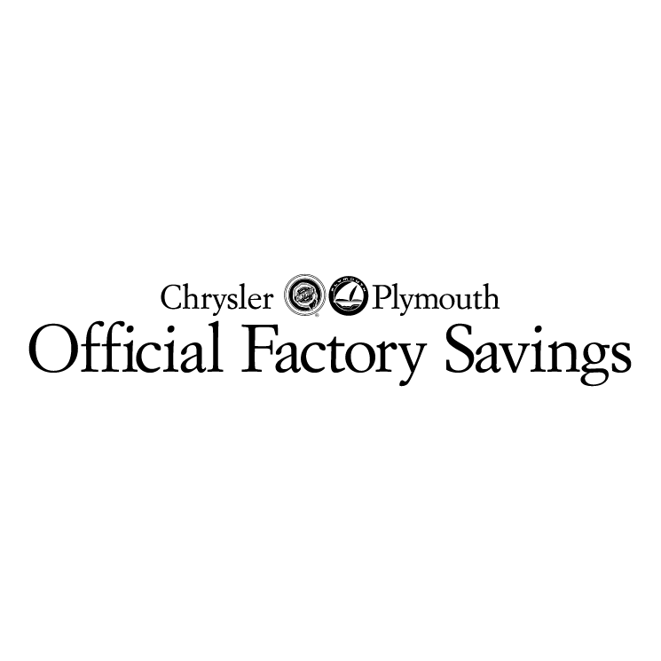 free vector Official factory saving