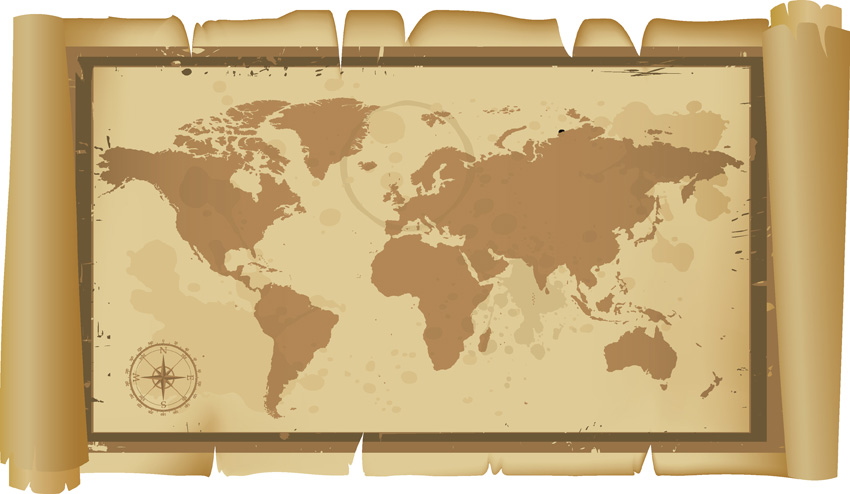 free vector Old map vector