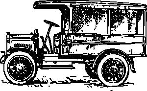 free vector Old Medium Truck clip art