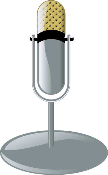 free vector Old Microphone Cleanup Style clip art