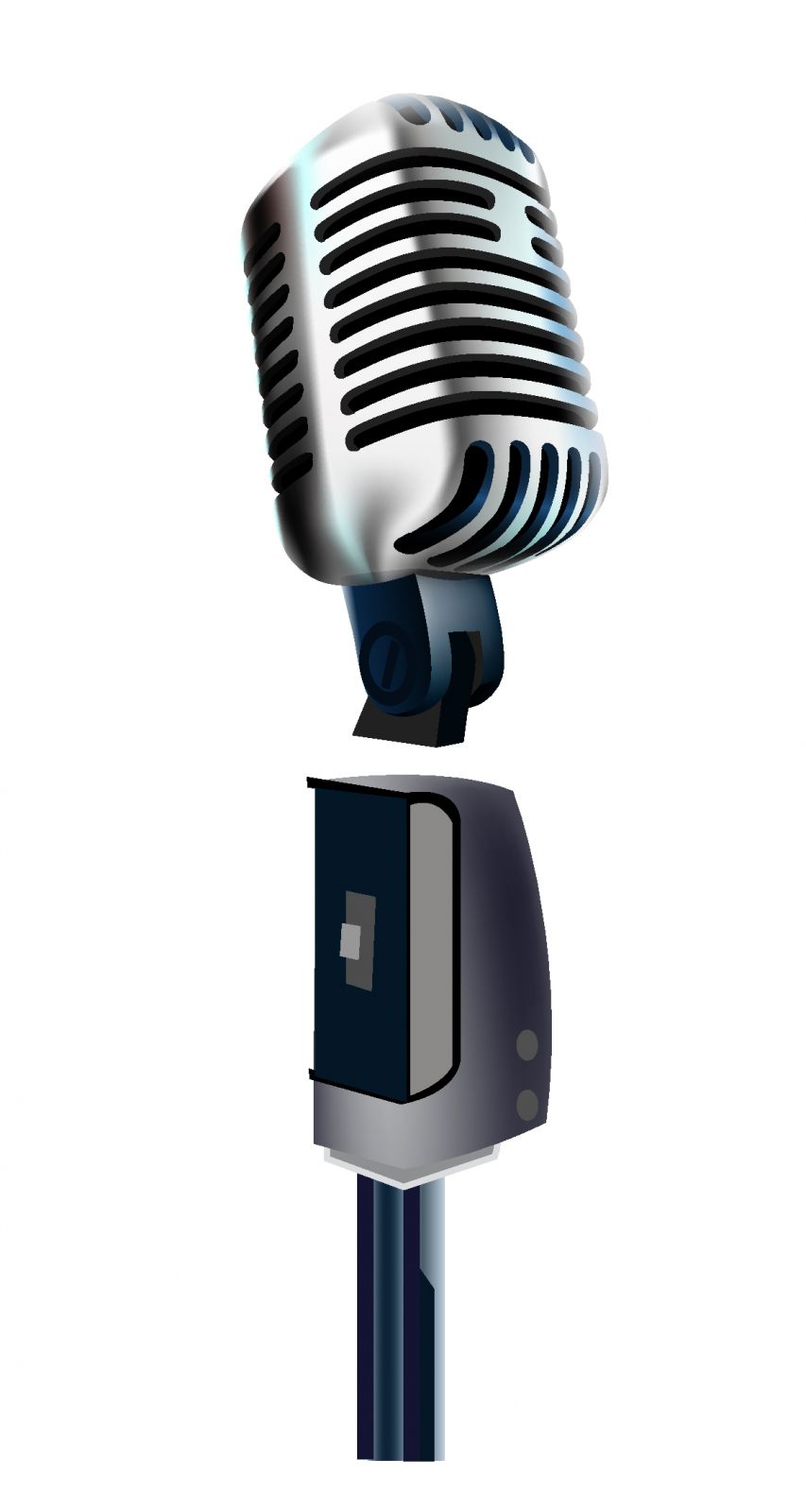 free vector Old microphone