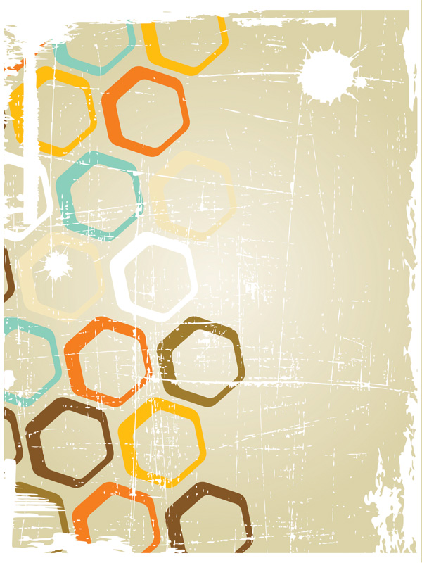 Old posters retro vector background Free Vector / 4Vector