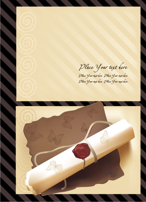 free vector Old stationery template vector series 5
