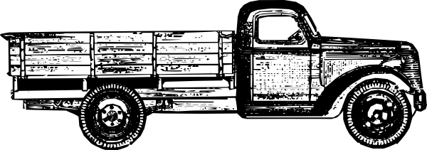 Free Vector Old Style Truck Clip Art