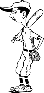 free vector Old Time Ball Player clip art