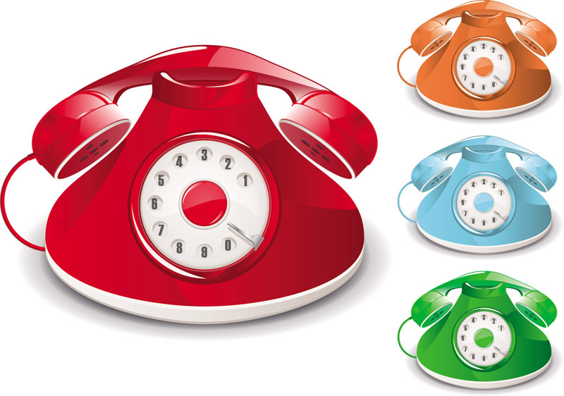 free vector Oldfashioned telephone vector