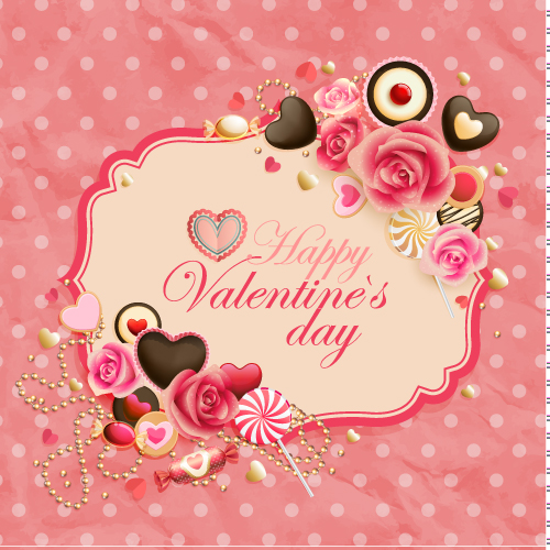 free vector Oldfashioned valentine cards 01 vector