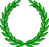 free vector Olive Wreath clip art