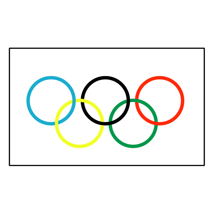 free vector Olympic flag