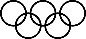 free vector Olympic Rings Icon clip art