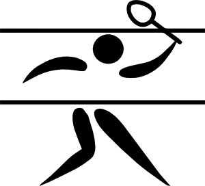 free vector Olympic Sports Badminton Pictogram clip art