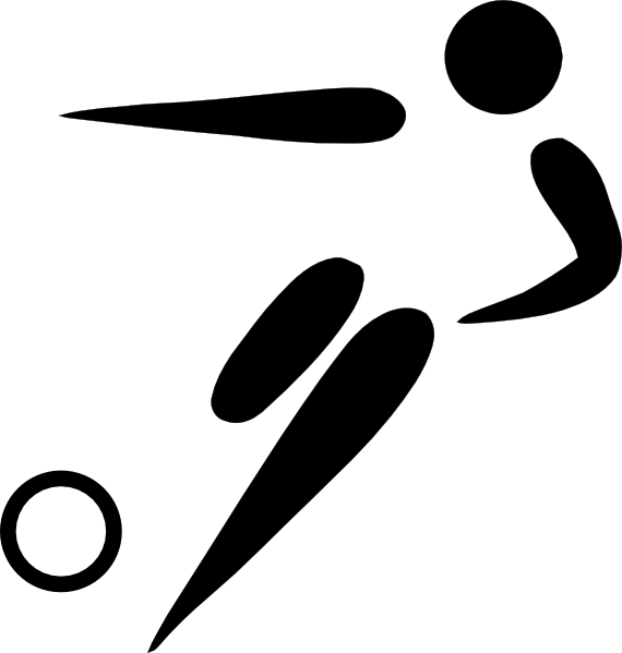 free vector Olympic Sports Football Pictogram clip art
