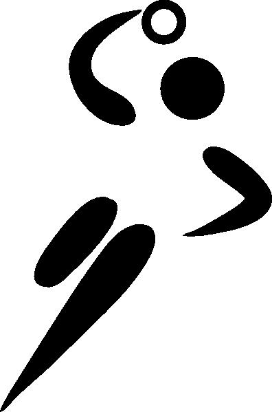 free vector Olympic Sports Handball Pictogram clip art