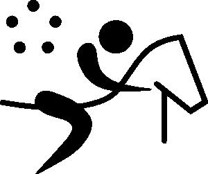 free vector Olympic Sports Modern Pentathlon Pictogram clip art